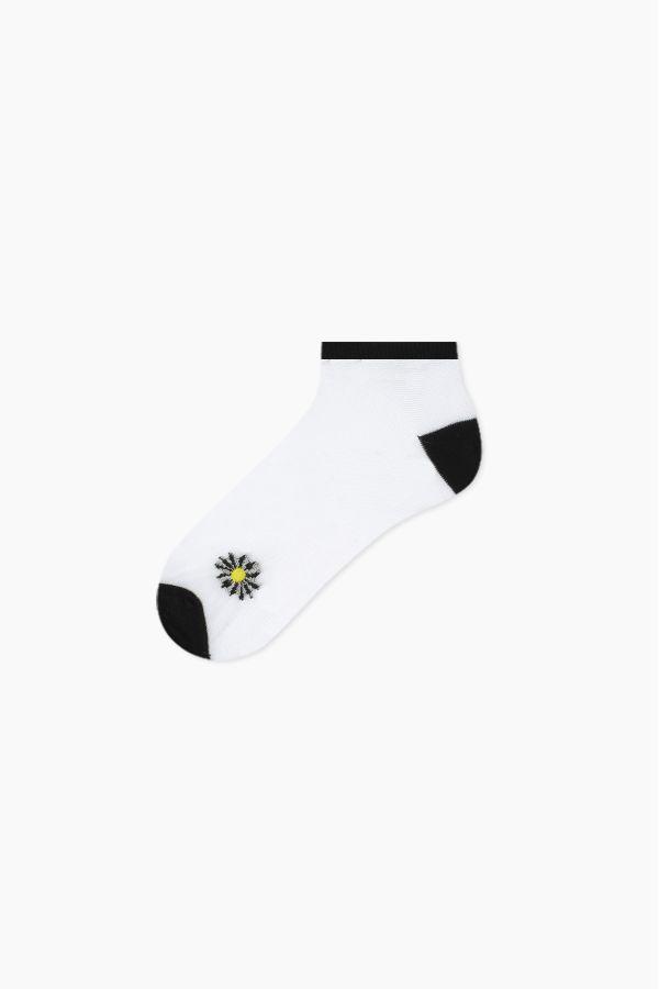 Bross 5-Pack Daisy Patterned Floss Women's Booties Socks