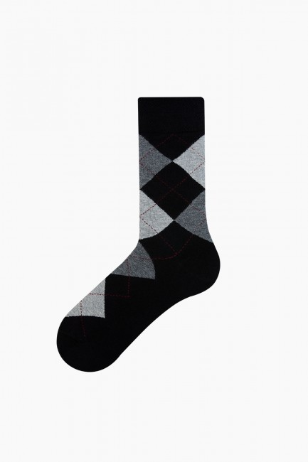 Bross 5-Pack Plaid Patterned Men's Socks - Thumbnail