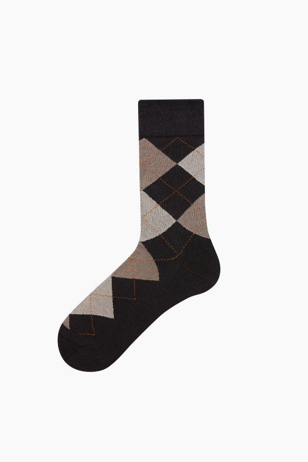 Bross 5-Pack Plaid Patterned Men's Socks