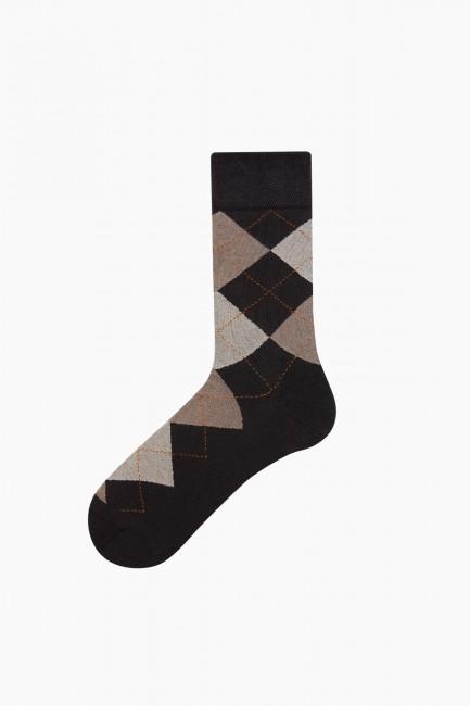 Bross 5li Ekose Desenli Erkek Çorabı - Thumbnail