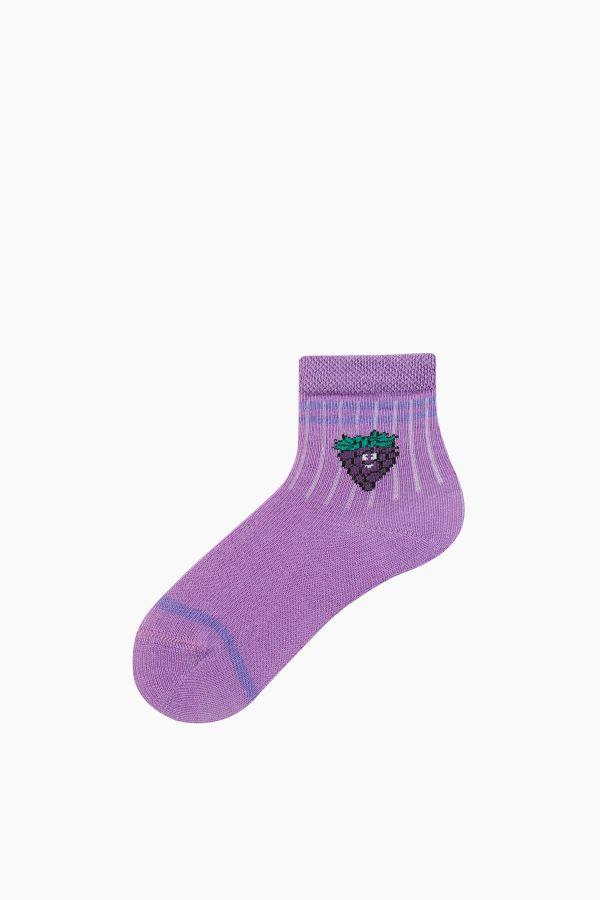 Bross 6'lı Meyve Desenli Bebek Çorabı