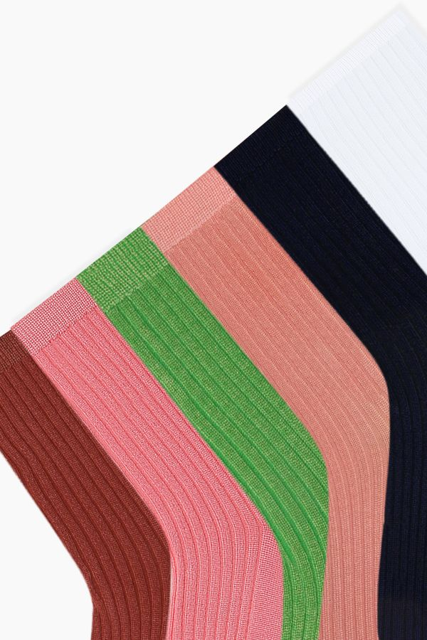 Bross 6'lı Renkli Floş Kadın Çorabı