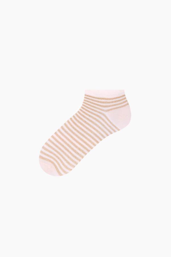 Bross 3'lü Simli Çemberli Patik Kadın Çorabı