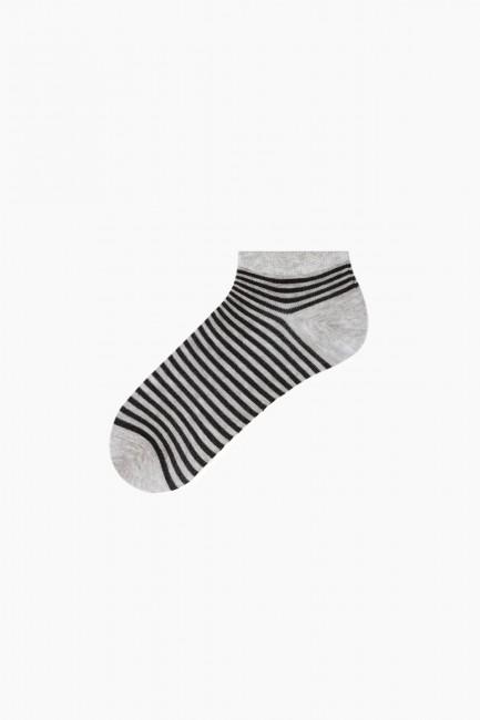Bross 3'lü Simli Çemberli Patik Kadın Çorabı - Thumbnail