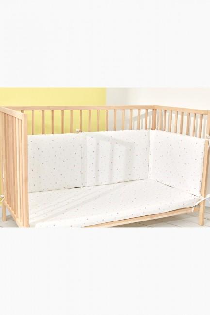 Bross - Bross Bear Rabbit Pattern Babybettschutz