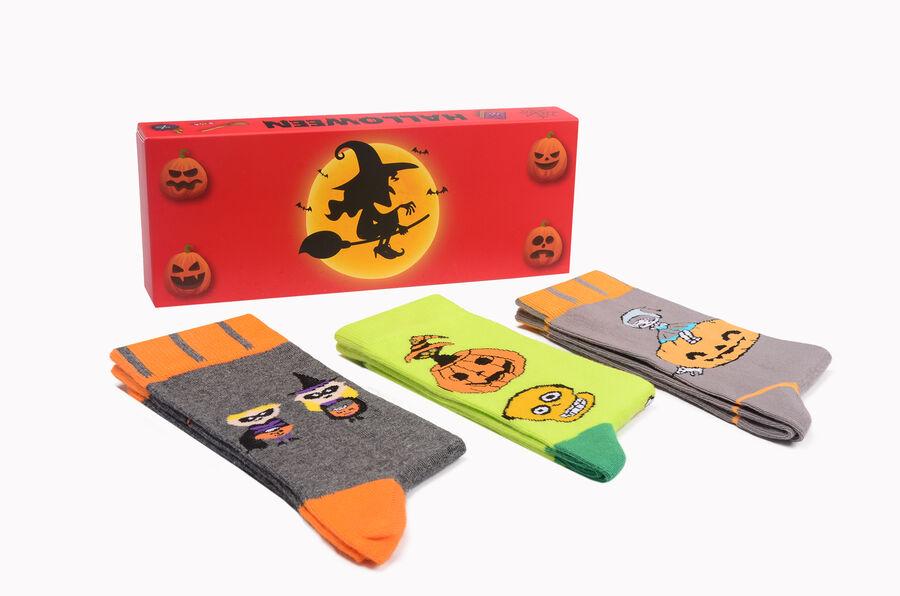 Bross Boxed 3-Pack Halloween Patterned Women's Socks-4