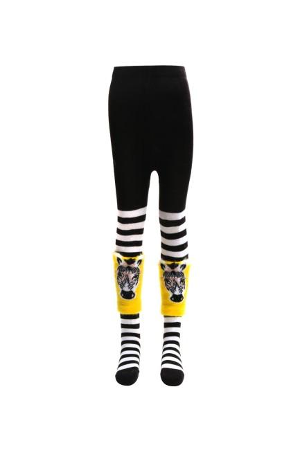 Bross - Bross Çemberli Çocuk Külotlu Çorabı ve Tozluk أسود