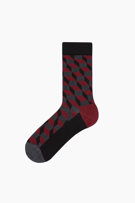 Bross - Bross Checker Patterned Men's Socks