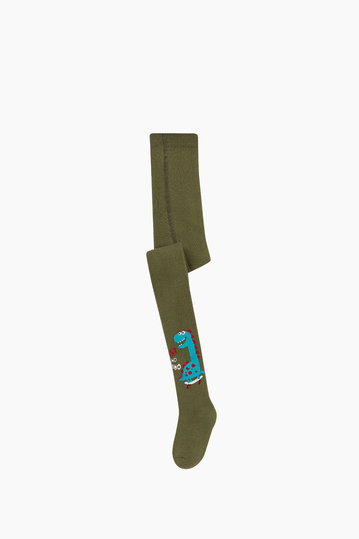 Bross - Bross Dinazor Desenli Havlu Külotlu Çocuk Çorabı
