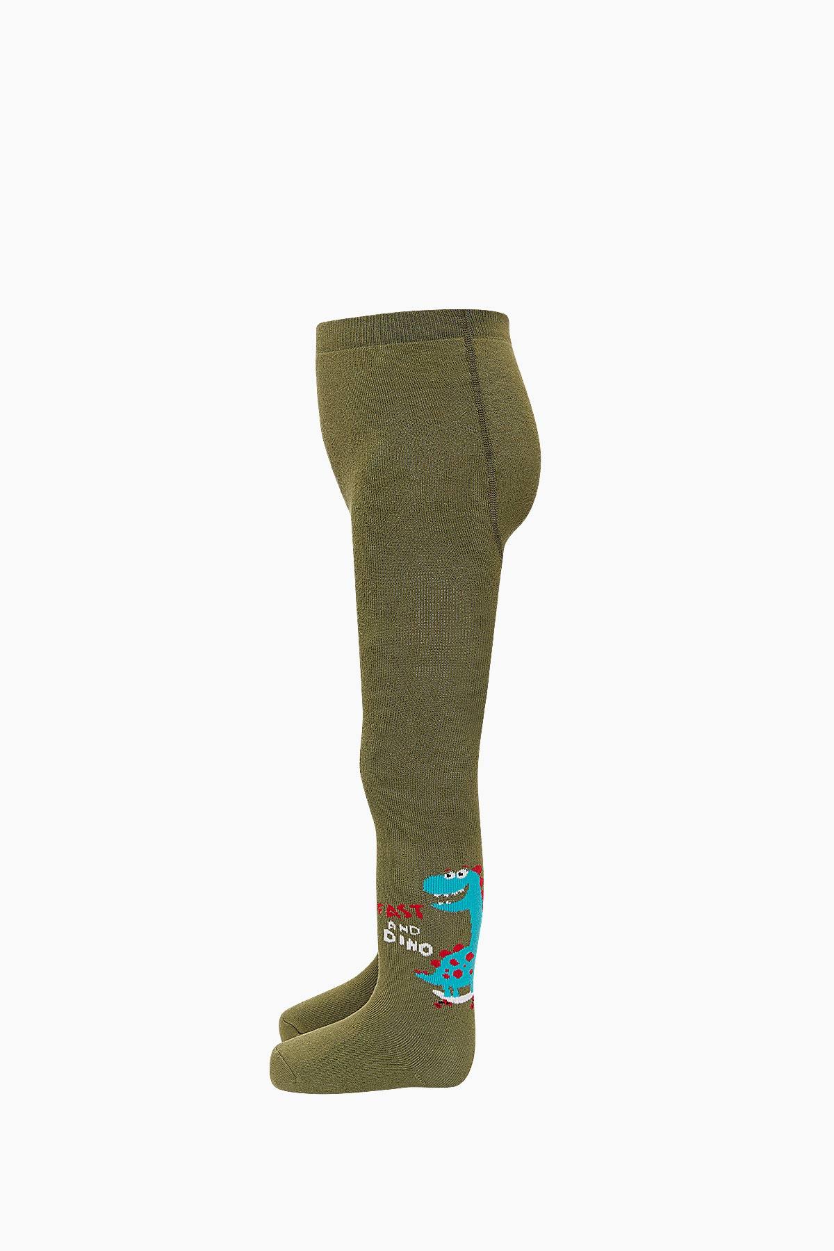 Bross Dinazor Desenli Havlu Külotlu Çocuk Çorabı