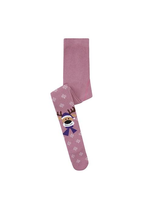 Bross - Bross Geyik Desenli Havlu Çocuk Külotlu Çorap