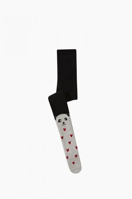 Bross - Bross Hayvan Desenli Havlu Külotlu Çocuk Çorabı