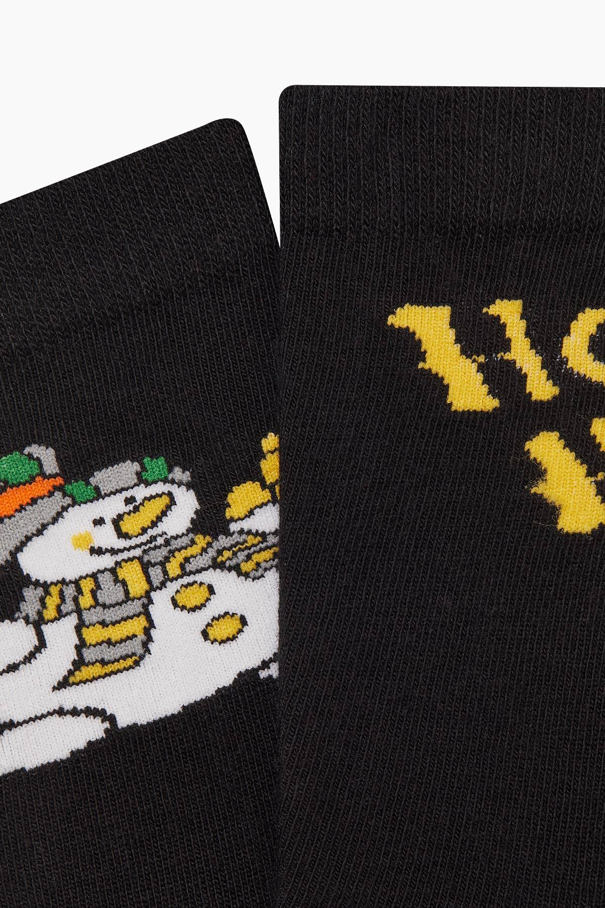Bross Ho Ho Yazılı Unisex Yılbaşı Çorabı