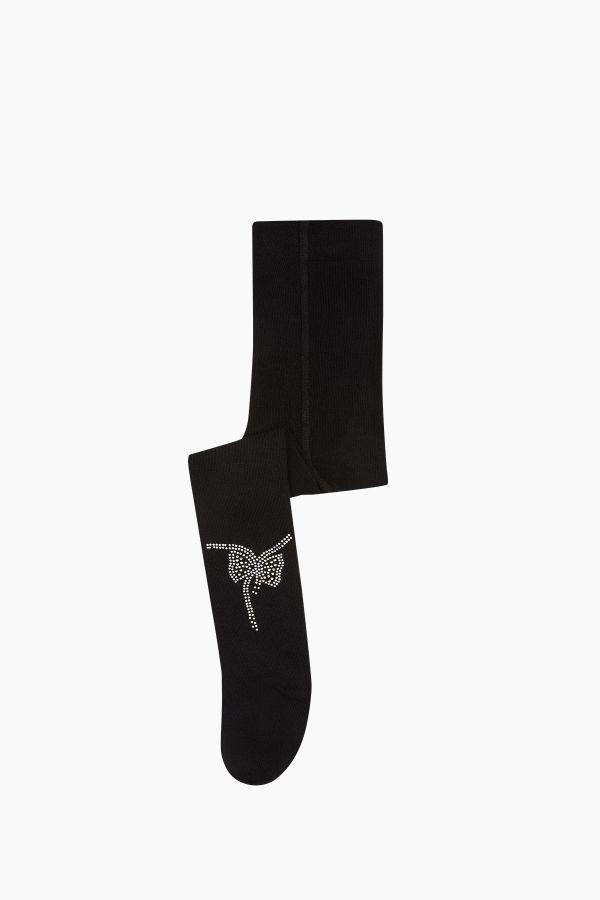 Bross Kelebek Taş Baskılı Külotlu Çocuk Çorabı