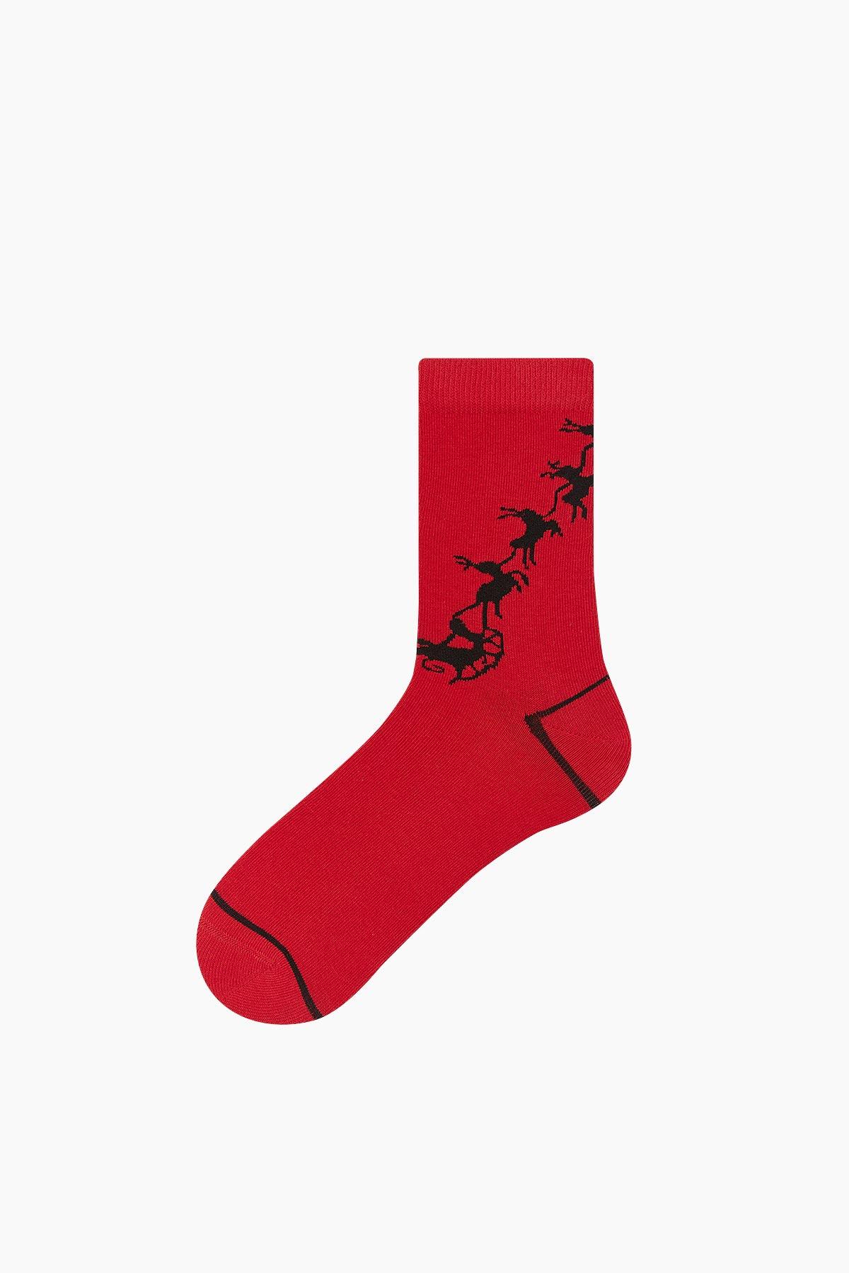 Bross Kutlama Desenli Yılbaşı Kadın Çorabı