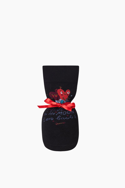 Bross - Bross Moon and Back Lovers Combination Couple's Socks