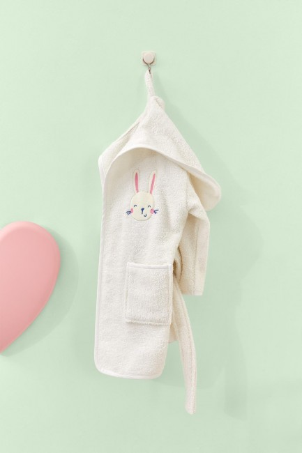 Bross - Bross Rabbit Pattern Baby Bademantel