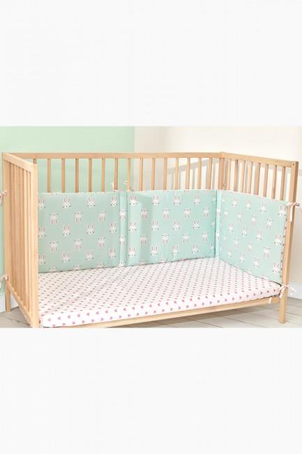 Bross - Bross Rabbit Pattern Babybettschutz