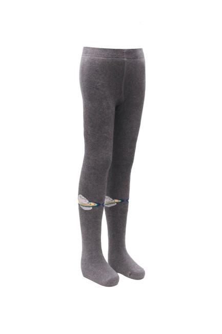 Bross - Bross Uzay Desenli Havlu Çocuk Külotlu Çorap