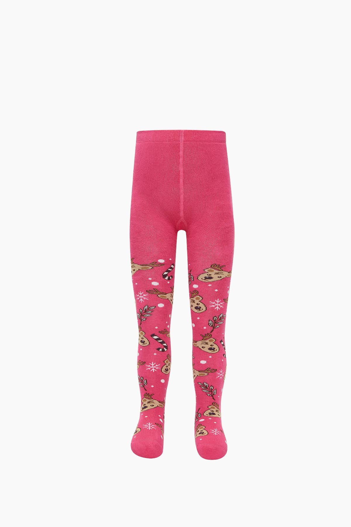 Bross Yılbaşı Geyik Desenli Havlu Külotlu Çocuk Çorabı