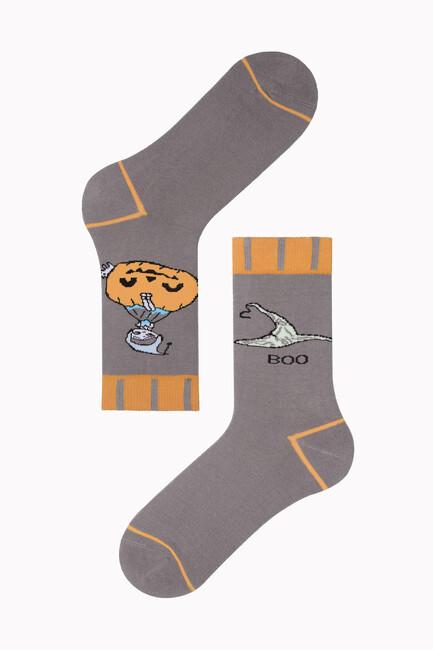 Bross - Bross Cadı Şapkası Desenli Halloween Çorabı
