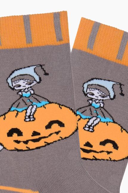 Bross Cadı Şapkası Desenli Halloween Çorabı - Thumbnail