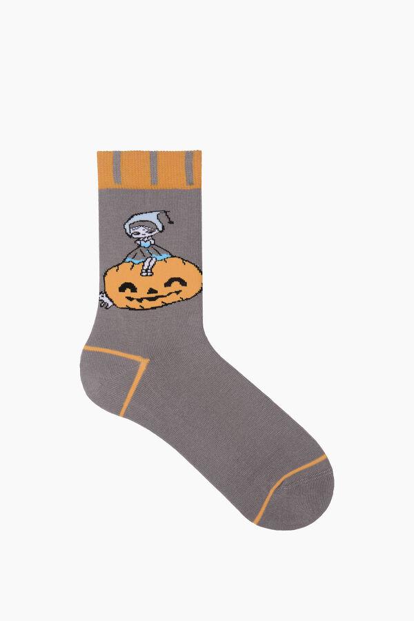 Bross Cadı Şapkası Desenli Halloween Çorabı