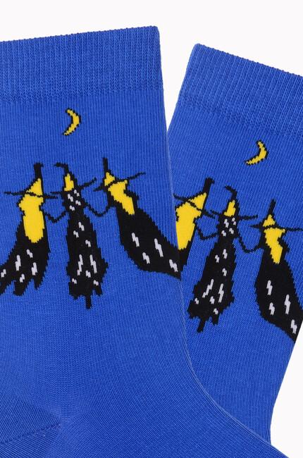 Bross Cadılar Desenli Halloween Çorabı - Thumbnail