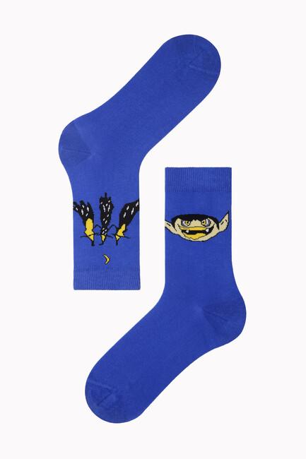 Bross - Bross Cadılar Desenli Halloween Çorabı