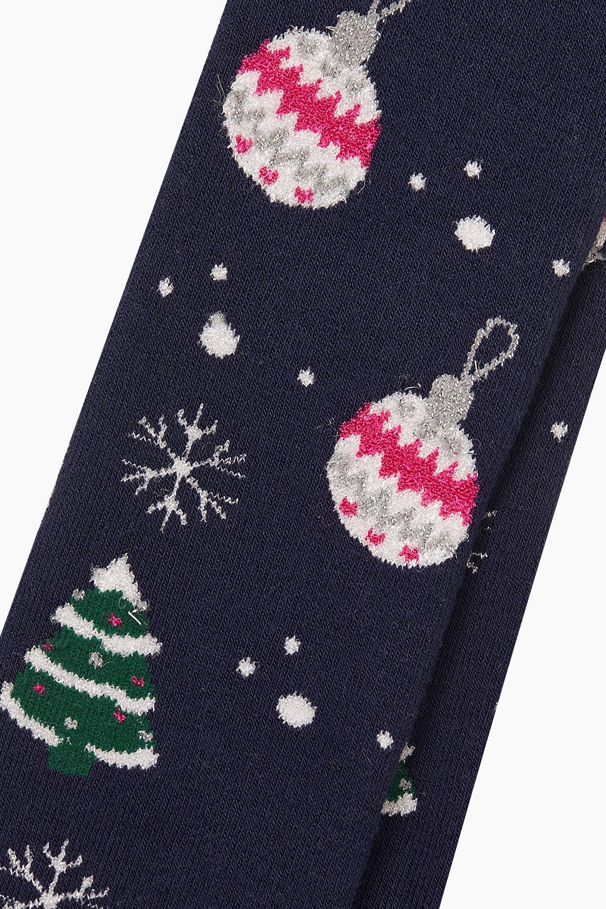 Bross Çam Süsü Desenli Havlu Külotlu Çocuk Çorabı