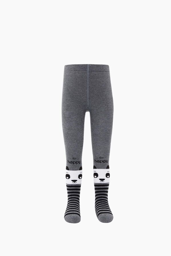 Çemberli Panda Havlu Külotlu Çocuk Çorabı