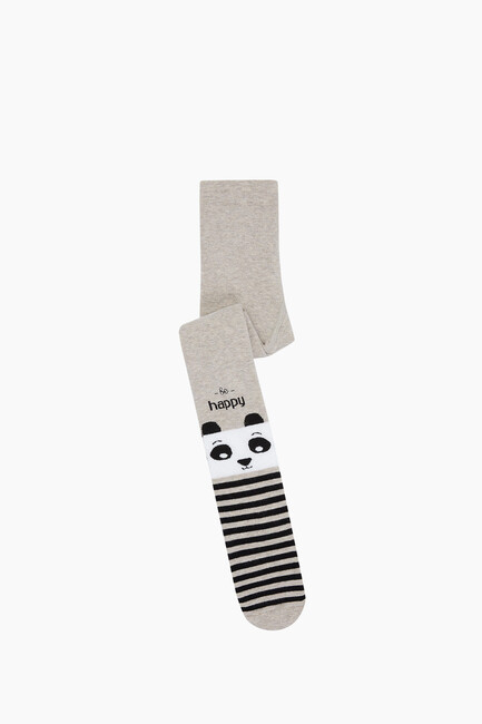 Bross - Çemberli Panda Havlu Külotlu Çocuk Çorabı
