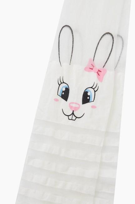 Bross Çemberli Tavşan Desenli İnce Külotlu Çocuk Çorabı - Thumbnail