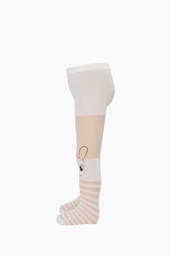 Bross Çemberli Tavşan Desenli İnce Külotlu Çocuk Çorabı