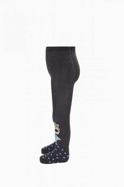 Bross Çiçekli Lol Desenli Havlu Çocuk Külotlu Çorap - Thumbnail