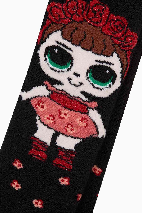 Bross Çiçekli Lol Desenli Havlu Çocuk Külotlu Çorap