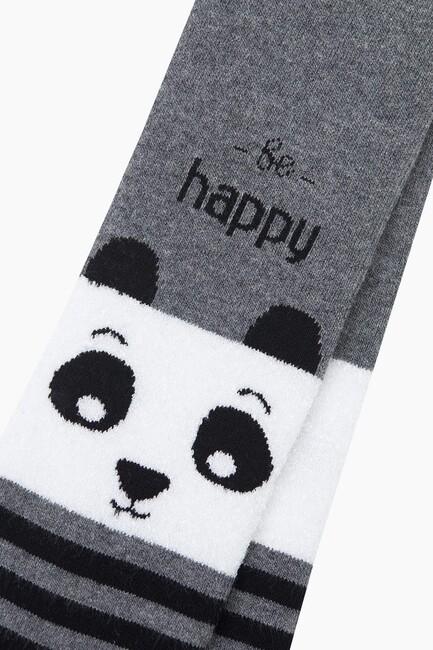 Bross Çemberli Panda Havlu Külotlu Çocuk Çorabı - Thumbnail