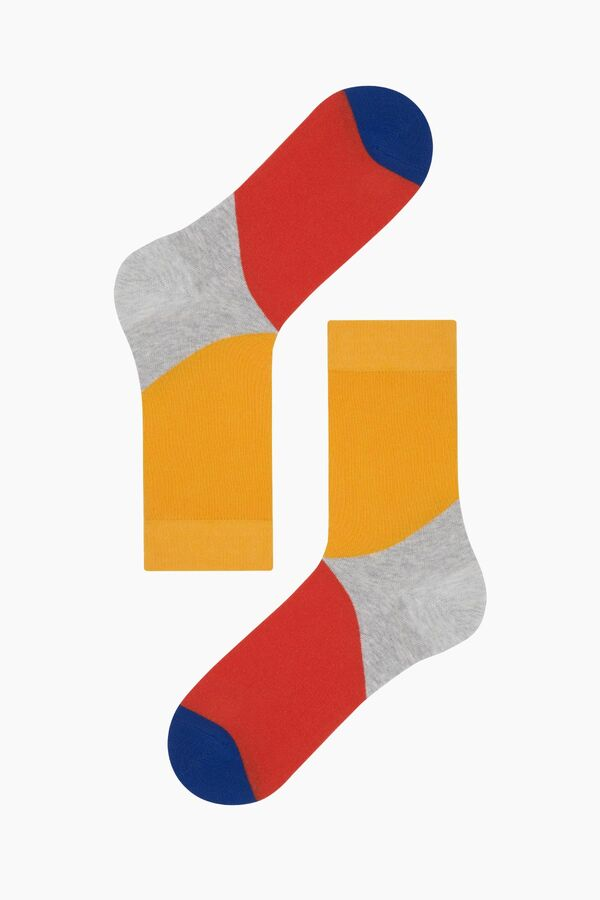 Color Block Men's Socks