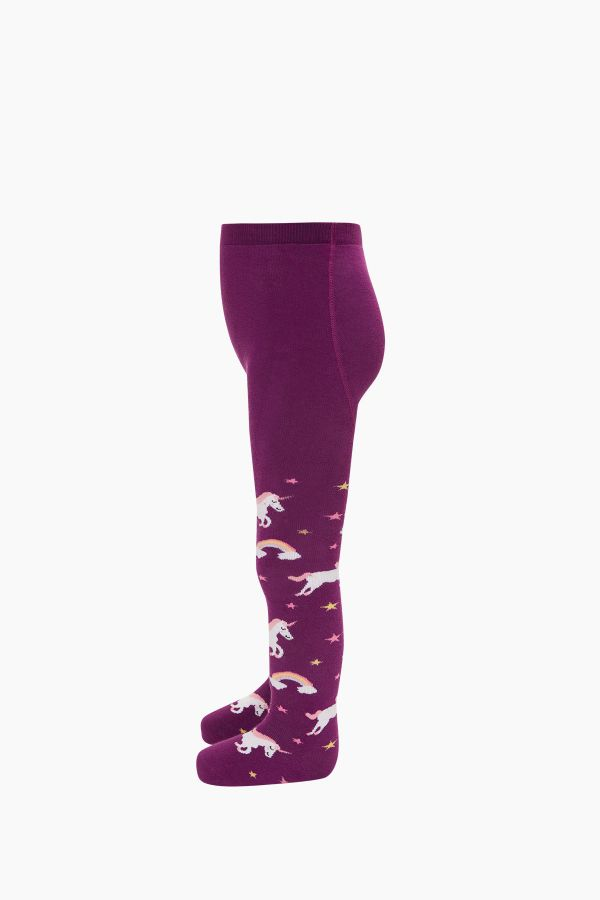 Colorful Unicorn Pattern Terry Tights
