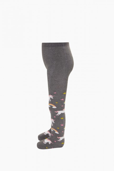 Colorful Unicorn Pattern Terry Tights - Thumbnail
