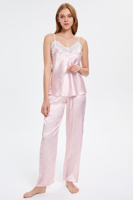 Bross - Dantelli Askılı Kadın Pijama Takımı