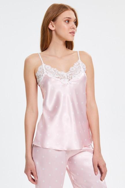 Dantelli Askılı Kadın Pijama Takımı - Thumbnail