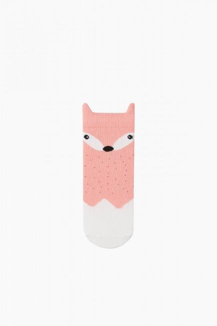 Bross 3-teilige 3D Fox gemusterte Kindersocken - Thumbnail