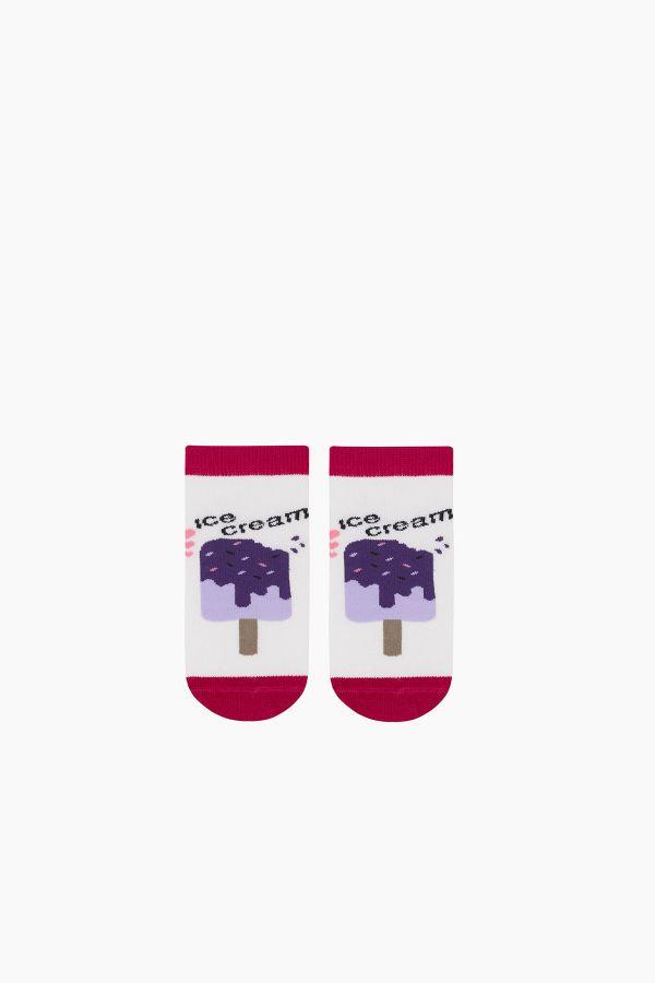 Bross 3-teilige Eiscreme gemusterte Booties Kids Socks