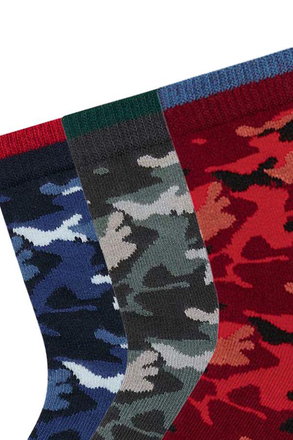 Bross 3er-Pack Kindersocken mit Camouflage-Muster