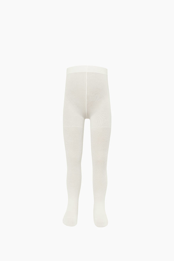 Embossed Pattern Thin Kids Tights