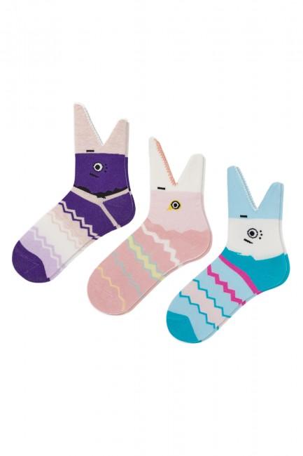 Bross - Bross 3-Pack 3D Shark Patterned Kids Socks