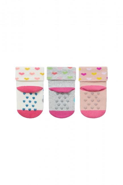 Bross 3-Pack Elephant Patterned Baby Towel Socks - Thumbnail