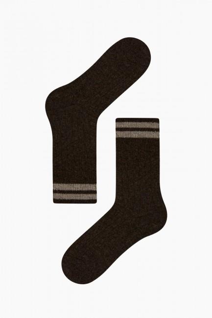 Bross 3-Pack Ringed Men's Wool Socks - Thumbnail