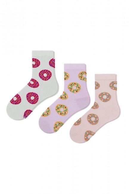 Bross - Bross 3-Piece Donut Patterned Children's Socks